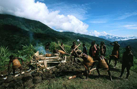 Cremation, Yali Tribe, West Papua Indonesia, for A Journey Through the Archpelago