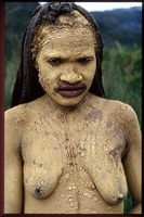 A young woman in mourning for dead husband, Baliem Valley, West Papua for Indonesia, A Journey Through the Archpelago