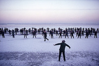 Exercise on the frozen Amur River, Harbin 1989 for The Power to Heal